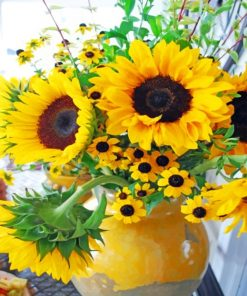 Aesthetic Sunflowers paint by numbers