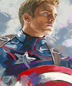 Aesthetic Captain America Paint by numbers