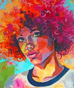Afro Girl paint by numbers