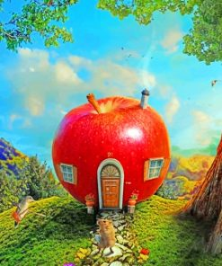 Apple House Paint by numbers