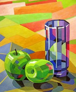 Apples And Cup Paint by numbers