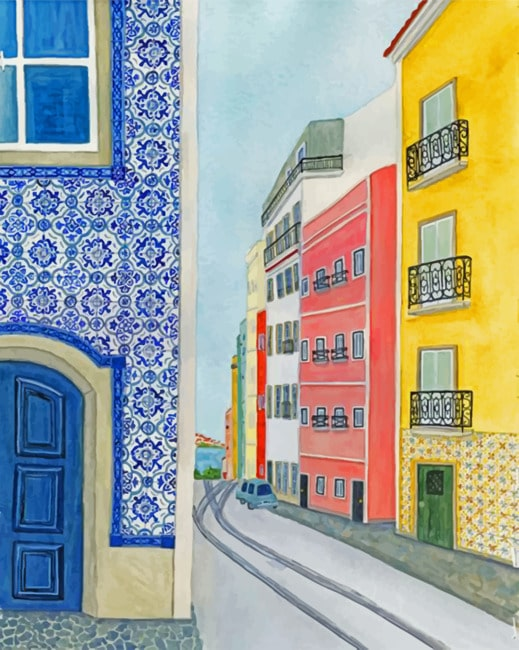 Artistic Buildings Paint by numbers