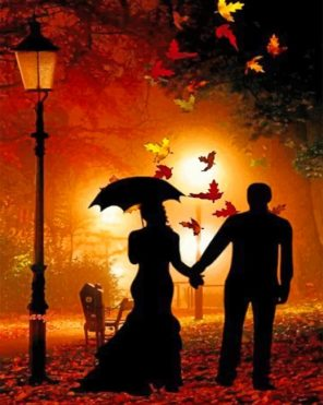 Autumn Couple Paint by numbers