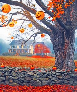 Autumn Halloween paint by numbers