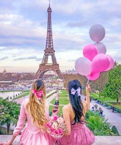 Best Friends In Paris Paint by numbers