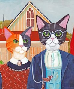 Cats Couple paint by numbers