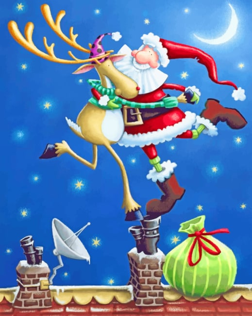 Christmas Santa Claus Paint by numbers