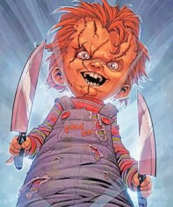 Chucky Comic paint by numbers