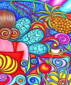 Colorful Abstract paint by numbers