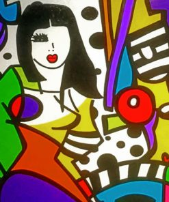 Colorful Abstract Woman paint by numbers