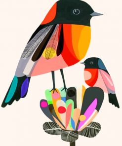Colorful Birds paint by numbers