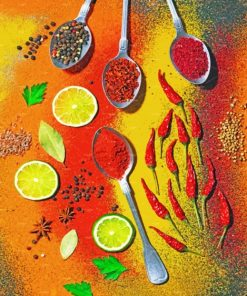Colorful Spices Paint by numbers