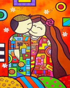 Couple Art paint by numbers