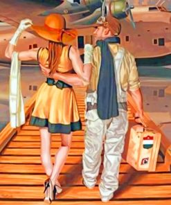 Traveler Couple paint by numbers