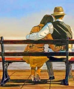 Couple Hugging Each Other paint by numbers