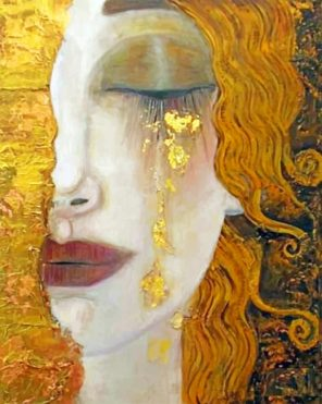 Crying Gold paint by numbers