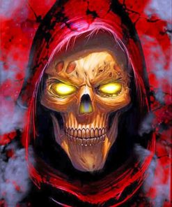 Dangerous Skull Paint by numbers