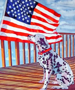 Dog And Flag paint by numbers