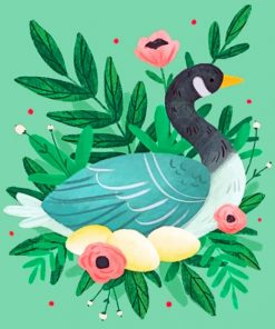 Duck Illustration Paint by numbers