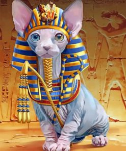 Egyptian Cat Paint by numbers