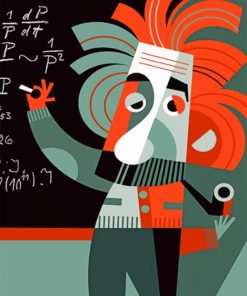 Einstein Paint by numbers
