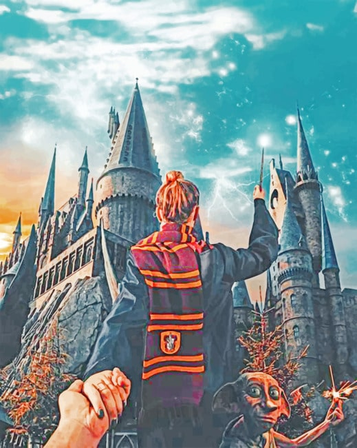 Follow Me To Hogwarts paint by numbers