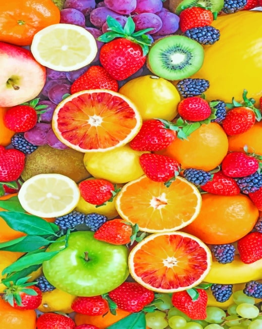 Fresh Fruits Paint by numbers
