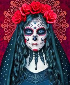 Gothic Sugar Skull Paint by numbers