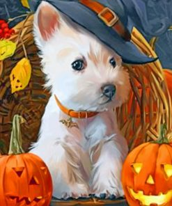 Halloween Dogv paint by numbers