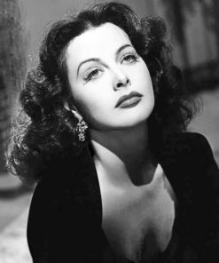Hedy Lamarr paint by numbers
