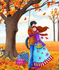 Love In Autumn paint by numbers