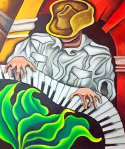 Man Playing Piano paint by numbers