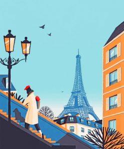 Paris Illustration paint by numbers