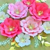 Pink Paper Flowers paint by numbers