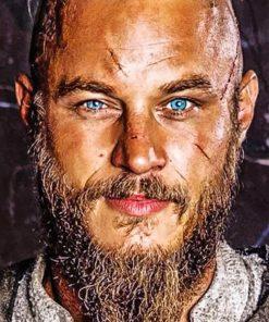 Travis Fimmel Ragnar Vikings Paint by numbers