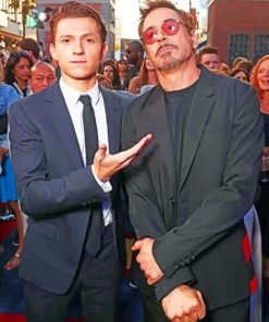 Robert Downey And Tom Holland paint by numbers