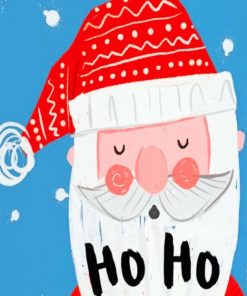 Santa Illustration Paint by numbers