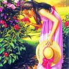 Smelling Flowers paint by numbers