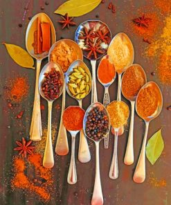Spices Spoons paint by numbers