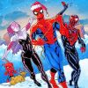 Spider Man In Winter paint by number