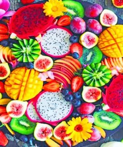 Tasty Fruits paint by numbers