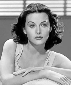 The Beautiful Hedy Lamarr paint by numbers