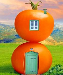 Tomatoes House paint by numbers