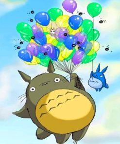 Totoro Studio Ghibli paint by numbers