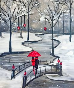 Vancouver Washington In Winter paint by numbers