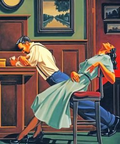 Vintage Couple paint by numbers