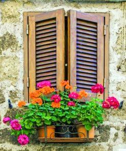 Vintage WindowVintage Window Paint by numbers