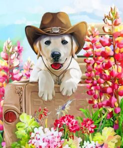 Western Dog Paint by numbers