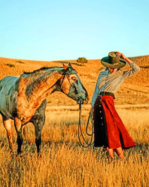 Western Woman paint by numbers
