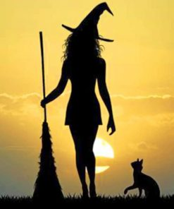 Witch Silhouette paint by numbers
